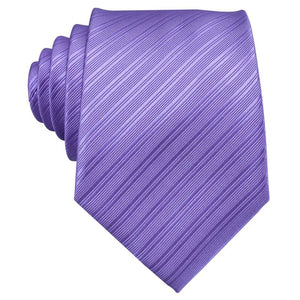Lavender Purple Solid Men's Tie Pocket Square Cufflinks Set
