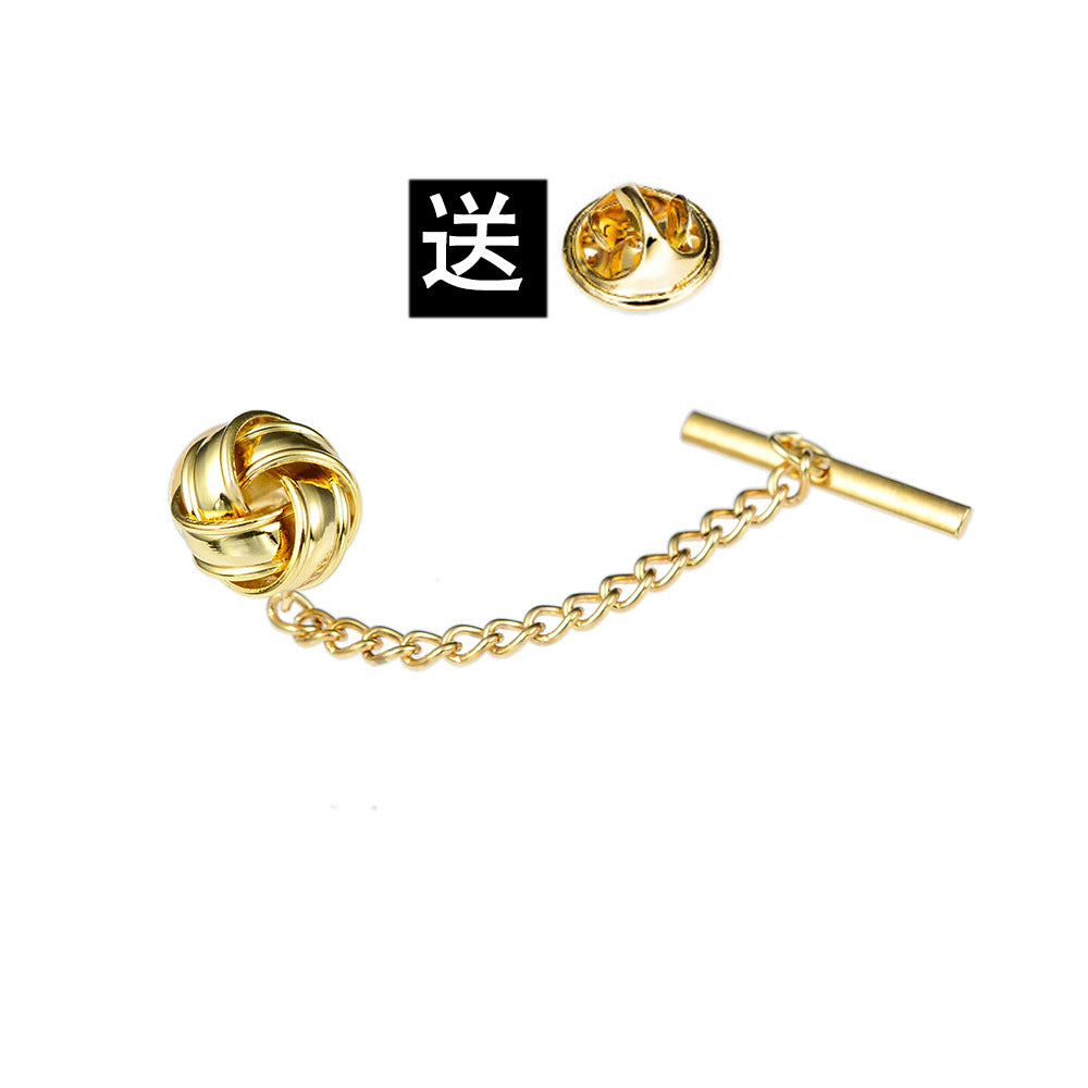 Luxury Golden Spiral Tie Tack Decoration For Ties