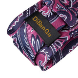 Purple Red Paisley Tie Pocket Square Cufflinks Set