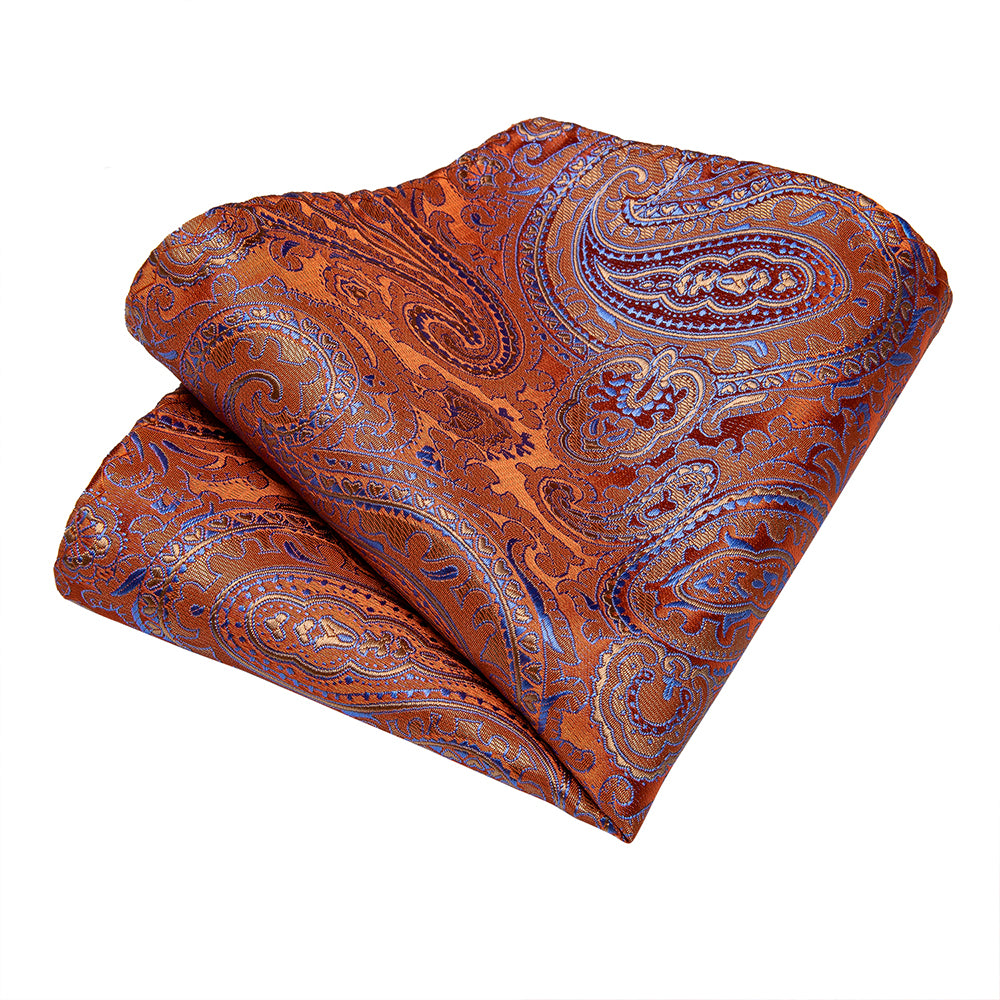 Load image into Gallery viewer, New Paisley Tie Pocket Square Cufflinks Set