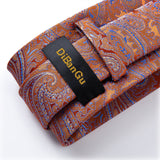 New Paisley Tie Pocket Square Cufflinks Set