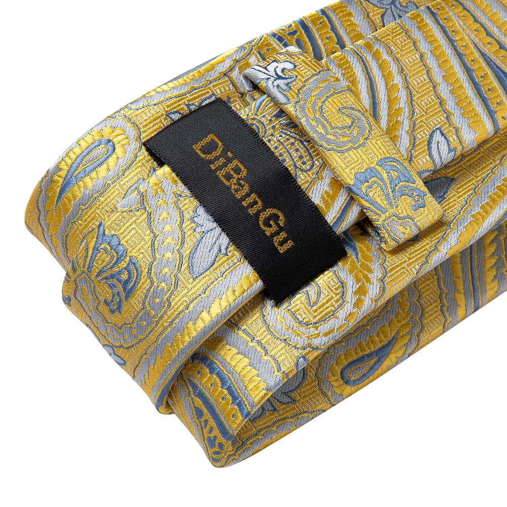 New Floral Tie Pocket Square Cufflinks Set (4601450430545)