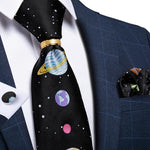Star Novelty  Men's Tie Ring Handkerchief Cufflinks Set