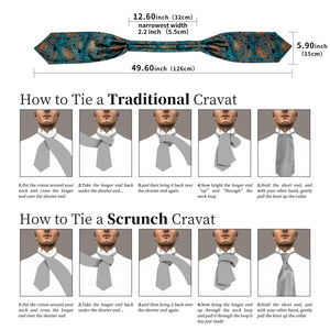 Load image into Gallery viewer, New Turquoise Floral Paisley silk Cravat Woven Ascot Tie Pocket Square Handkerchief Suit Set (4602510442577)