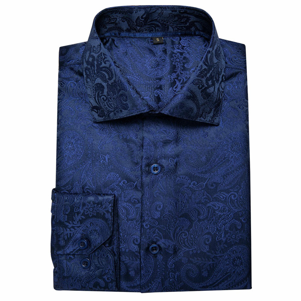 Blue Paisley Men's Shirt