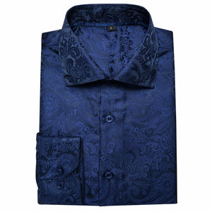 Blue Paisley Men's Shirt (4667829420113)