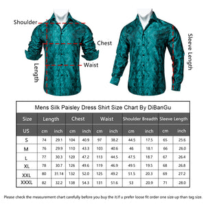 Load image into Gallery viewer, Green Paisley Men's Shirt (4669229334609)