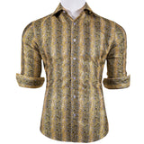 Brown Floral Men's Shirt