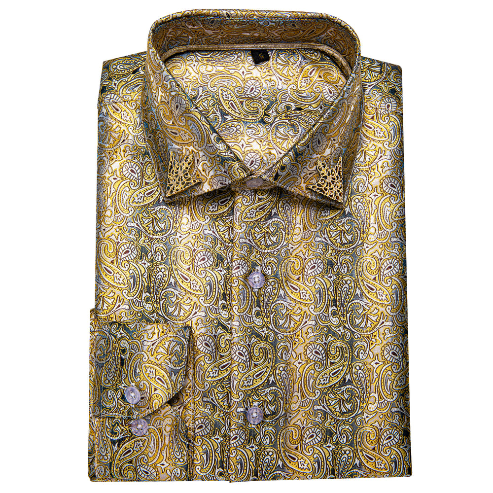 Load image into Gallery viewer, Brown Floral Men's Shirt (4669230776401)