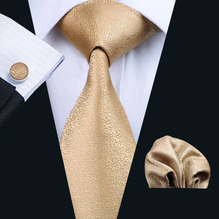 Darker Golden Wedding Tie Set