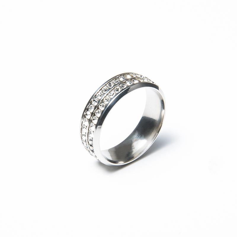Titanium Steel Metal Diamond Ring Decoration for Ties