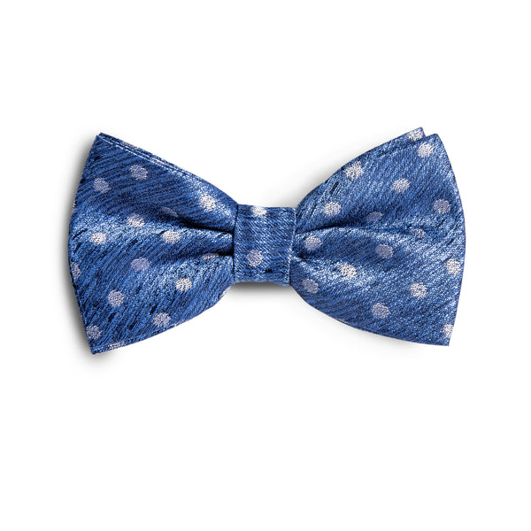 Men's Silver Grey Polka Dot Bowtie