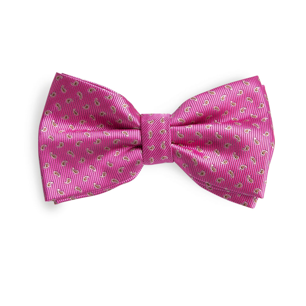 Pink Yellow  Novelty Geometric Bowtie