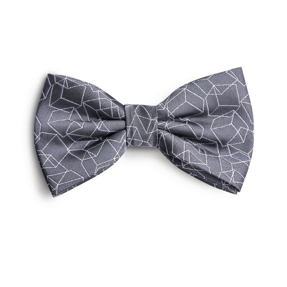 Grey Geometric patterns Bowtie