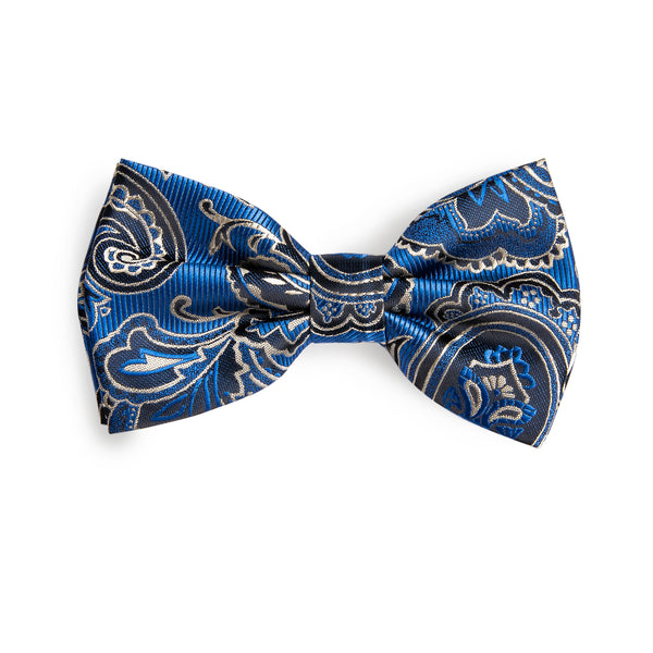 Unique Blue Black Pattern Bowtie
