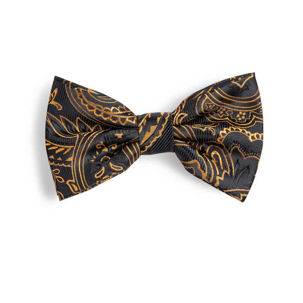 Black Brown Paisley  BowTie