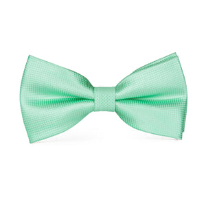 Pale Green Solid Bowtie Pocket Square Cufflinks Set (1925437685802)