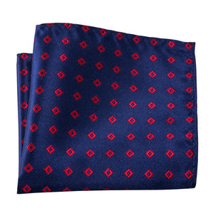Load image into Gallery viewer, Formal Blue Red Plaid Silk Bowtie Pocket Square Cufflinks Set (1933801750570)