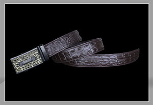 Charming  Automatic Buckle Brown Leather Belt