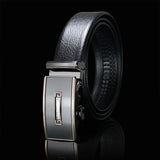 Honorable  Automatic Buckle Black Leather Belt