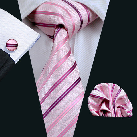 Sweety Pink Striped Tie