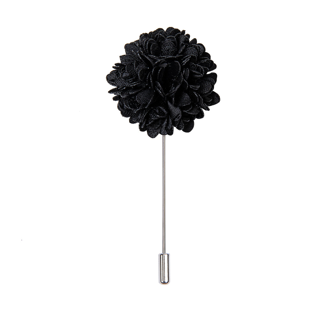 Luxury Black Floral Lapel Pin