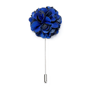 Novelty Blue Floral Lapel Pin