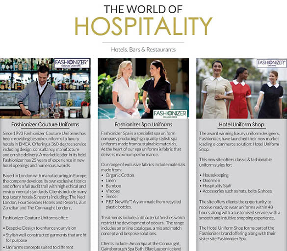The World of Hospitality Features Fashionizer Uniforms