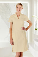 Beige Housekeeping Uniform Dress