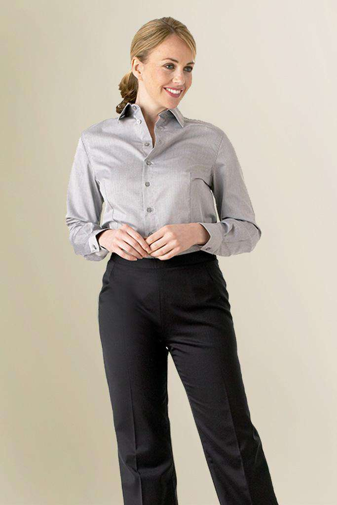 Womens Grey Restaurant Shirt Uniform