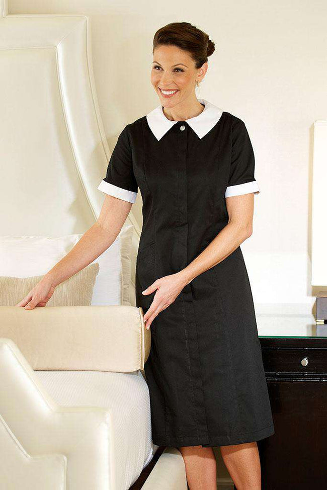 black classic maids dress for hotel uniforms