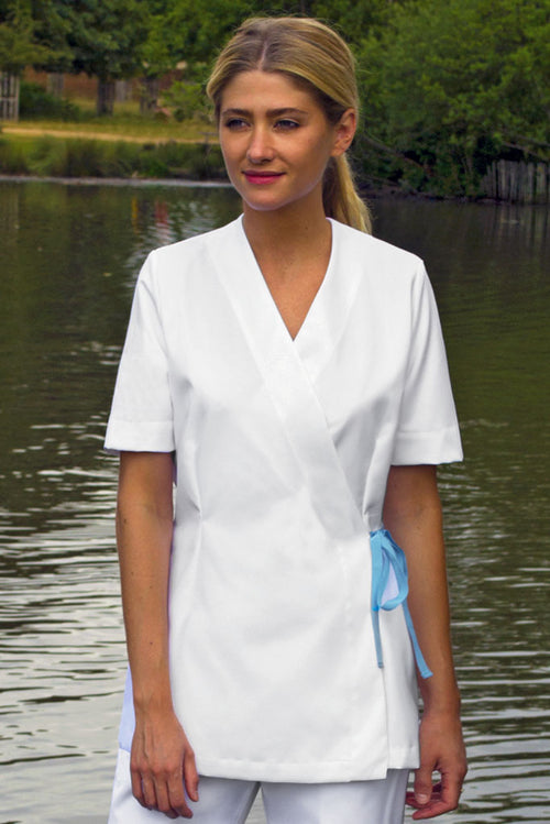 White PPE Spa Tunic