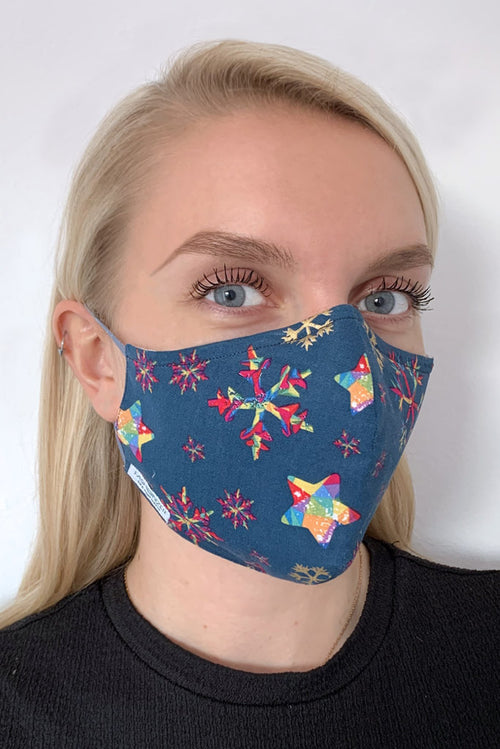 Christmas snowflake face mask