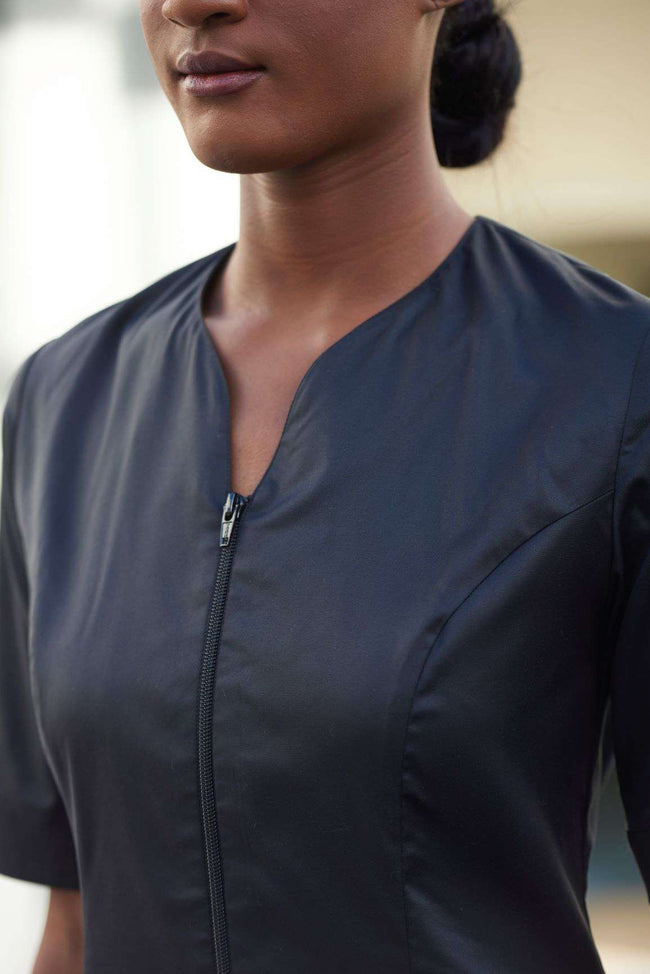 Housekeeping Tunic with Front Zip - Sustainable Uniform - Fashionizer Uniforms
