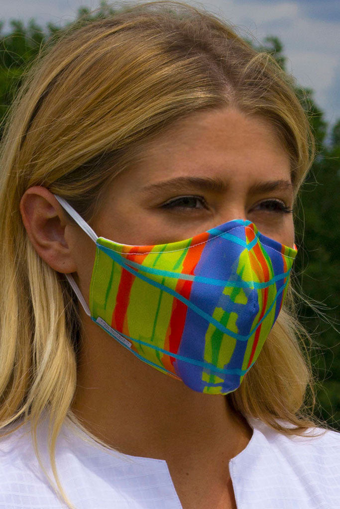 Bright and colourful washable face mask