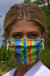 Bright printed face covering