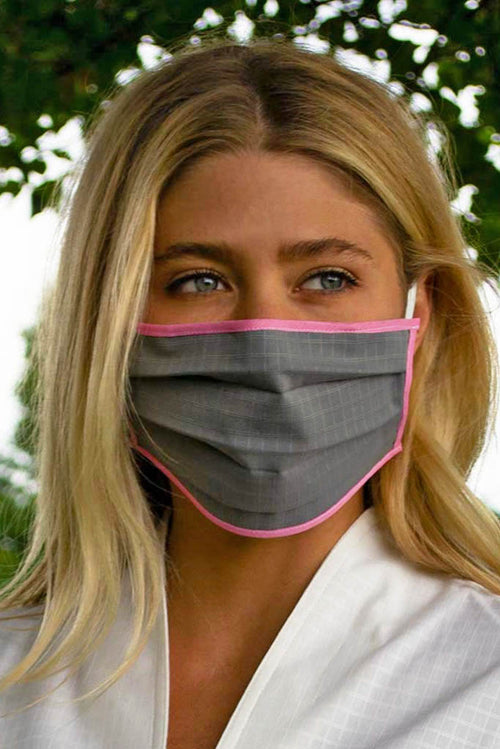 Womens Grey and Pink Face Mask