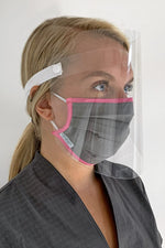 face visor with cotton face mask