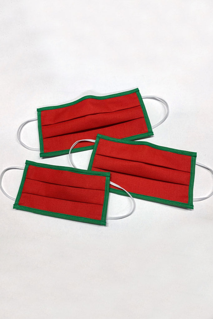 Red Christmas childrens face masks