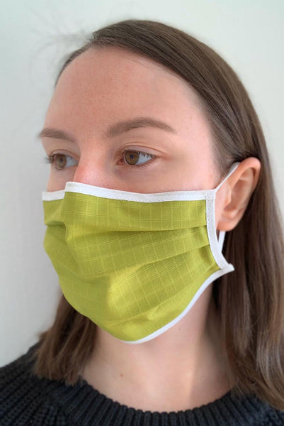 Green cotton face covering