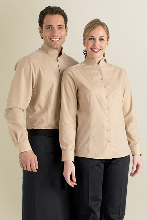 Mandarin Collar Restaurant Shirt - Fashionizer Uniforms