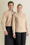 Beige Mens Restaurant Shirt