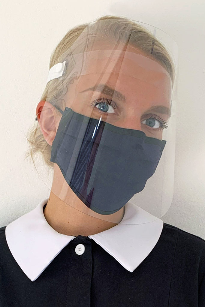 Face covering plus face shield