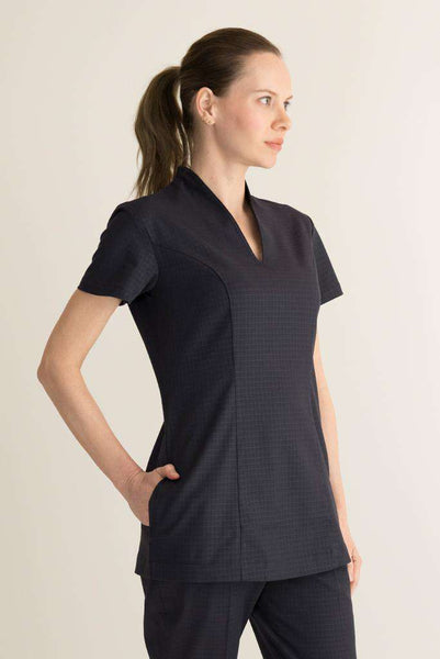 Oriental Housekeeping Tunic Black