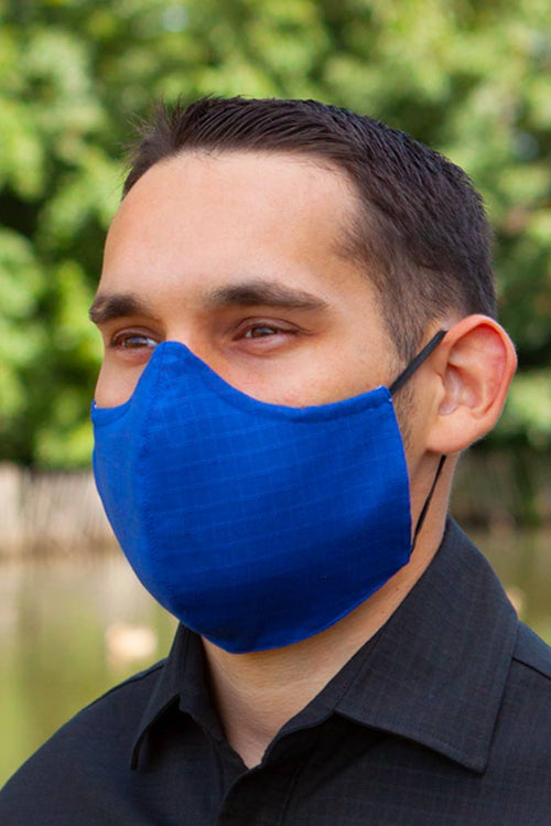 Mens Blue Face Mask made of organic cotton