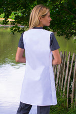 White apron made from PPE