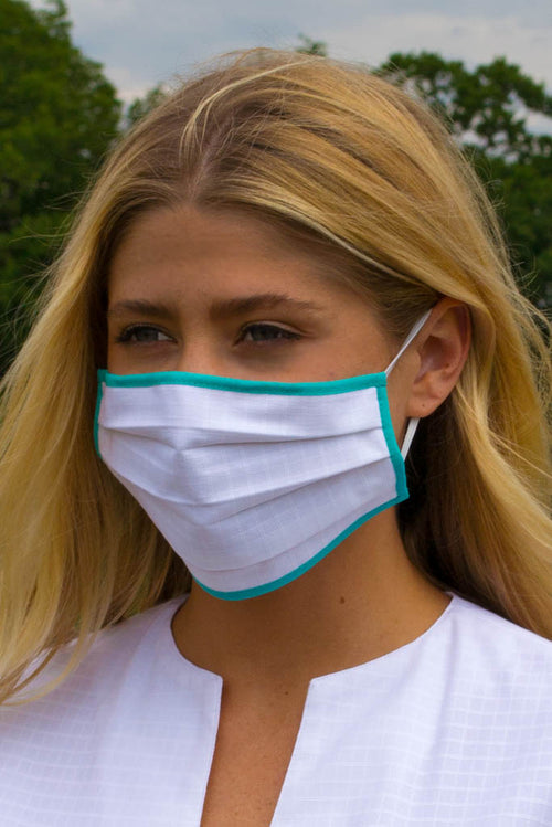 White reusable face mask