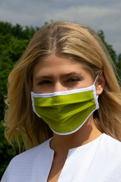 Lime Green Pleated Wellness Face Mask