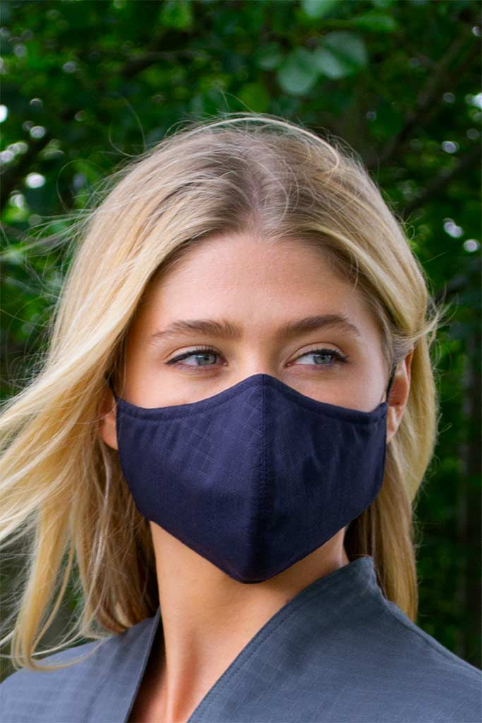 Navy Cotton face mask