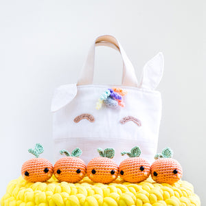 [Subjected to Availability] Make Your Magical Rainbow Unicorn Orange Tote With Crochet And Sewing For CNY